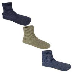 Men's Muk Luks Wool Slipper Sock - Blue XL, Denim Blue