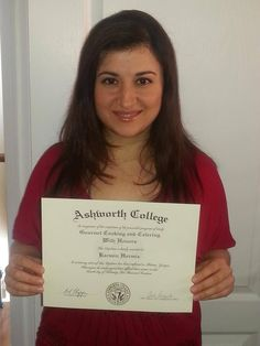We'd like congratulate Karmin for graduating from our online Cooking & Catering School!  More Ashworth Reviews:  http://www.ashworthcollege.edu/why-ashworth/success-stories