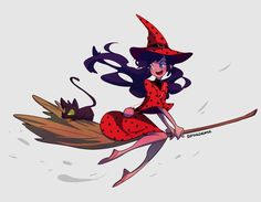 (WitchAU!Miraculous: Tales of Ladybug and Cat Noir) Cat Noir and Ladybug