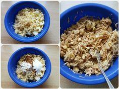 Jednoduchý jablkovo-pudingový koláč (fotorecept) - recept | Varecha.sk Oatmeal, Breakfast, Food, The Oatmeal, Morning Coffee, Meals, Rolled Oats, Morning Breakfast, Overnight Oatmeal