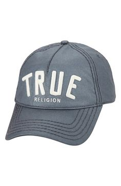 e946a774 True Religion Brand Jeans Reflective Embroidered Baseball Cap available at  #Nordstrom Dad Caps, Hats