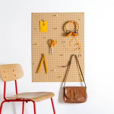 Peg Board with multi colour wooden pegs.The pegboard is also available in Blue, White, Orange, Grey and Yellow and Small, Medium and Desktop. We also offer a personalisation service.Block's stylish Peg Boards are perfect for keeping useful items in the same place or displaying your favourite keepsakes. The Peg Boards are supplied with different colour pegs and also fixtures an fittings to easily wall mount. The following amount of pegs are included with the Large Pegboard: large - 12 large…