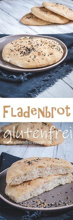 Fladenbrot glutenfrei backen ist einfach - Glutenfrei Rezepte Flatbread gluten-free is very easy to bake and it tastes super delicious and fluffy. It is perfect for kebab. You can find out how t Patisserie Sans Gluten, Dessert Sans Gluten, Bon Dessert, Gluten Free Desserts, Easy Desserts, Gluten Free Recipes, Dessert Recipes, Bread Recipes, Gluten Free List