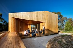 Built by dwpIsuters in Bentleigh East, Australia with date 2013. Images by Emma Cross . The Meditation and Indigenous Cultural Centre (M&ICC) at Bentleigh Secondary College was conceived to educate the...
