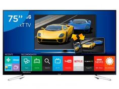 "Smart TV LED 75"" Samsung Full HD Gamer UN75J6300 - Conversor Digital Wi-Fi 4 HDMI 3 USB"