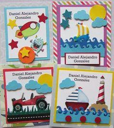 Tarjetas presentació de niños para los obsequios o regalos. #Panamá Scrapbook Cards, Scrapbooking, Note Cards, I Card, Cardmaking, Business Cards, Origami, Stationery, Cricut