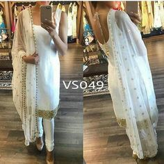 White beautifully embroidered dress  Fabric Info : Pure satin silk crepe (soft) unstitch top 2.5 meter with border both front and back  Bottom - 3 meter fabric pure satin silk  Dupatta - pure nett with sequins border (pearl )2.25 meter  Made to order - one week  Colours can be changed  Sale Price : 2950 INR Only ! #Booknow  CASH ON DELIVERY Available In India !  World Wide Shipping !   For orders / enquiry  WhatsApp @ 91-9054562754 Or Inbox Us  Worldwide Shipping !  #SHOPNOW  #lahengacholi…