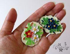 Miniature fridge magnet, 1 mm wide strips of paper by pinterzsu