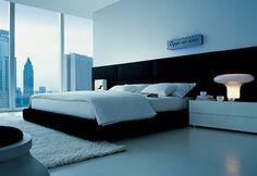 Slaapkamer met een mooi uitzicht.