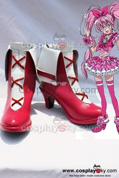 707395f8026 Smile Precure! Pretty Cure Cure Melody Cosplay Boots Shoes  Pretty