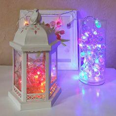 Trouxe para vocês ideias de decoração de Natal com pisca-pisca. Ano passado eu tinha feito dentro de uma jarra transparente, mas só que não tirei foto, então resolvi fazer diferente e mostrar a vocês como fica lindo!