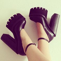 @Kirlowerk in the Jeffrey Campbell Scully Platform  || Get the platforms: http://nastygal.com/product/scully-platform