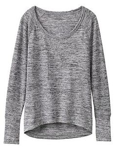 No Sweatin It Sharkbite Top - Soft Techie Sweat fabric in a super-cute sweatshirt-style top with a drop rear for coverage on all your post-practice adventures.