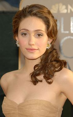Curly girl needs wedding hair suggestions! :  wedding curly hair wedding Emmy RossumJan 2006