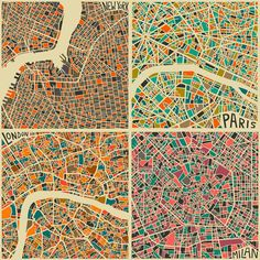 Modern abstract maps