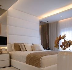 If you're more attracted to the masculine feel, then a combo of rustic details, rich woods and velvet sofas works a treat. Bedroom False Ceiling Design, Luxury Bedroom Design, Home Room Design, Master Bedroom Design, Modern Bedroom, Home Interior Design, Bedroom Decor, Home Suites, Luxurious Bedrooms