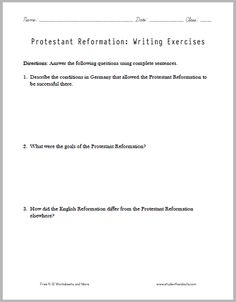 this printable handout contains three short essay questions protestant reformation essay questions to print pdf