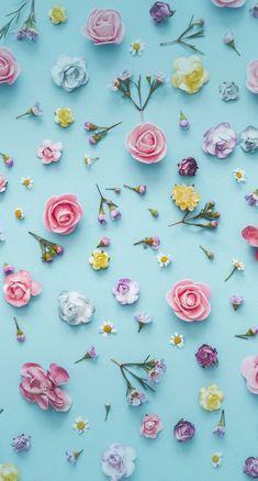 Floral Wallpaper Phone, Flower Background Wallpaper, Cute Wallpaper For Phone, Cute Wallpaper Backgrounds, Flower Backgrounds, Colorful Wallpaper, Galaxy Wallpaper, Wallpaper Desktop, Background Pictures