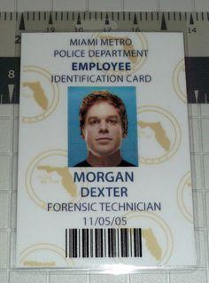 Items similar to Dexter Morgan Employee ID Badge - Forensics Technician - Miami Metro on Etsy Michael C Hall, Greys Anatomy Memes, Miami, Billie Holiday, Dexter Morgan, Slice Of Life, Forensics, Psychopath, End Of The World