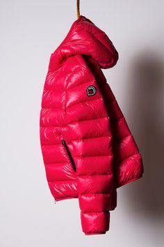piumino bright red, light down jacket Goose Feel