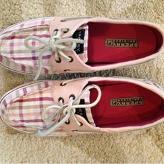 Sperry top siders like new Plaid sperry shoes worn only one time! Very cute, great condition, perfect for summer. Size 6.5 Sperry Top-Sider Shoes Sneakers