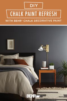 It's easy to upcycle old furniture with a new coat of paint. Just check out this DIY BEHR® Chalk Decorative Paint refresh tutorial for inspiration! This bedside table gets a pop of bright color thanks to Rumba Orange, from the new BEHR® 2020 Color Trends Palette. Click below for full project details to learn more.