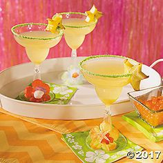 They may seem like small touches, but this Luau Margarita Glass project is sure to put your beach party guests in a tropical mood in a big way. In just two ...