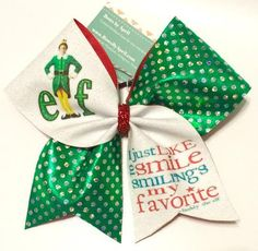 Bows by April - Elf Glitter and Holo Dot Mystique Cheer Bow, $15.00 (http://www.bowsbyapril.com/elf-glitter-and-holo-dot-mystique-cheer-bow/)