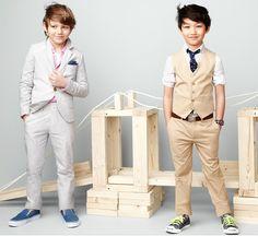 dapper suits for little boys. jcrew