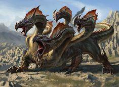 Polukranos, más conocida como la mítica y terrorífica Hidra.