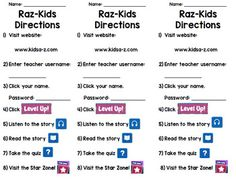Raz Kids Directions Bookmark