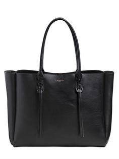 LANVIN - LEATHER TOTE BAG WITH FRINGED DETAILS - LUISAVIAROMA - LUXURY SHOPPING WORLDWIDE SHIPPING - FLORENCE