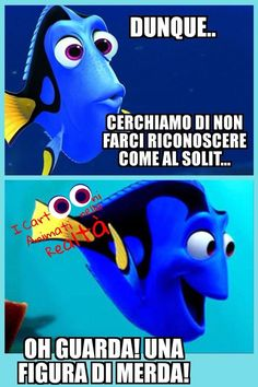 Crazy Funny Memes, Wtf Funny, Funny Cute, Italian Memes, Miracle Morning, Funny Times, Dory, Vignettes, True Stories
