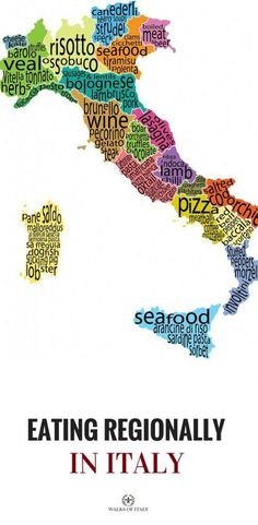 We know that Italian ice is good anywhere in Italy, but here is a map showing all of Italy's regions and the food they're known for. Find out how to eat regionally when you go to Italy! Oh The Places You'll Go, Places To Travel, Travel Destinations, Places To Visit, Italy Vacation, Vacation Spots, Italy Travel, Italy Trip, Vacation Travel