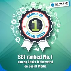 "#SBI has been ranked No.1 bank by The Financial Brand in their list of ""Power 100 Ranks - Banks Q1 2016"" . Thank you everyone for your love and support! To read more, click: http://thefinancialbrand.com/58195/power-100-2016-q1-bank-rankings/ #StateBankofIndia #SBI #StateBank #TheFinancialBrand #PowerBanks"
