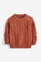 Buy Ecru Cable Jumper from the Next UK online shop Boy Outfits, Fall Outfits, Fashion Outfits, Mary Janes, Childrens Shoes, Next Uk, Simple Dresses, Uk Online, Jumpers