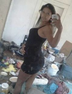Bad Time for a Selfie - You Can Tell She's Not the Cleaning Lady - Hoarding Fail  ---- best hilarious jokes funny pictures walmart humor fail