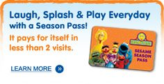 Sesame Place: Family Theme Park in Pennsylvania  One free admission for active duty  military and their dependents.