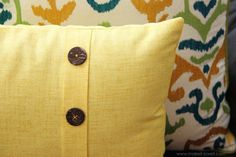 Fold-Over Button Pillow (home decor) | Make It and Love It