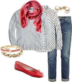 """Polka dots"" by redrobin21 ❤ liked on Polyvore"
