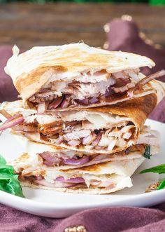 Pork and Balsamic Onion Quesadilla
