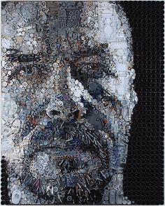 Portraits Made from Found Objects by Zac Freeman