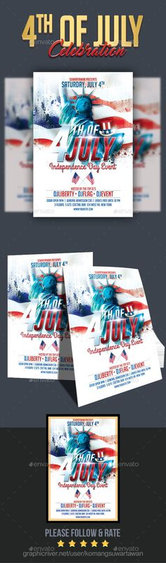 Memorial Day Church Flyer - independence day flyer