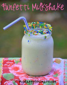 Funfetti cake batter Milkshake!!!