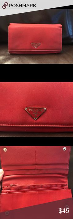Prada wallet Prada wallet, used. Great color, light weight Prada Bags Wallets