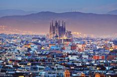 Antoni Gaudí's Sagrada Familia (started 1882), Barcelona, Spain.