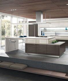 #kitchen with island IDEA 40 by Snaidero | #design Pininfarina @Snaidero Cucine http://www.archiproducts.com/en/products/60493/idea-kitchen-with-island-without-handles-idea-40-snaidero.html