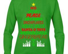 Ugly Sweater, Ugly Christmas,Ho Ho Ho Ginger Bread Sweatshirt,Ugly Christmas Sweater Contest