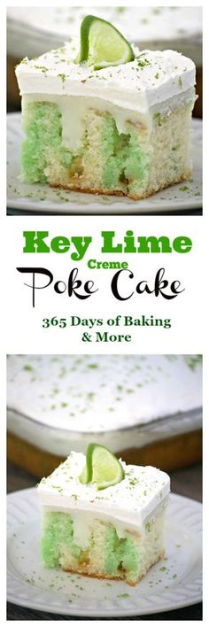 Key Lime Creme Poke Cake is THE perfect desert to top off your Cinco de Mayo par. Key Lime Creme Poke Cake is THE perfect desert to top off your Cinco de Mayo party. It& SO easy to put together and is full of flavor. Poke Cake Recipes, Poke Cakes, Cupcake Recipes, Baking Recipes, Cupcake Cakes, Dessert Recipes, Freezer Recipes, Freezer Cooking, Drink Recipes