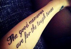 Charming Black Small Quote Tattoos for Girls - Hot Back Small Quote... - Tattoo - Sexy: Black words tattoos for girl by Quote Tattoos